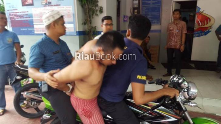 Tahanan Curanmor Sialang Bungkuk Ketangkap Kabur dengan Motor Rampasan