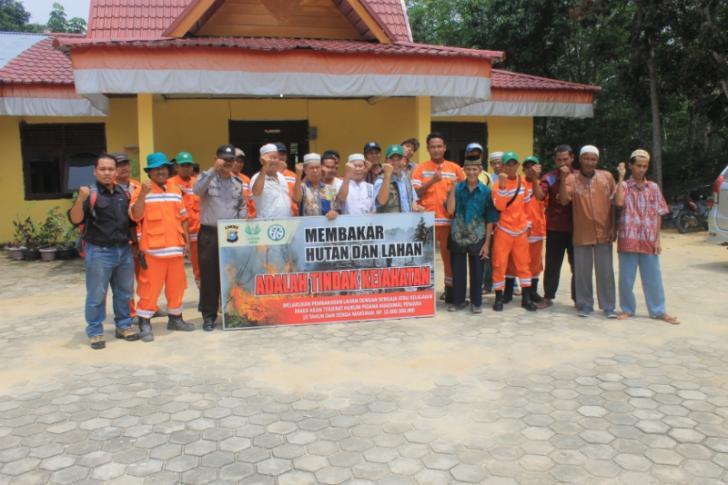 Cegah Bencana Karlahut, Asian Agri Sosialisasi Program Desa Bebas Api