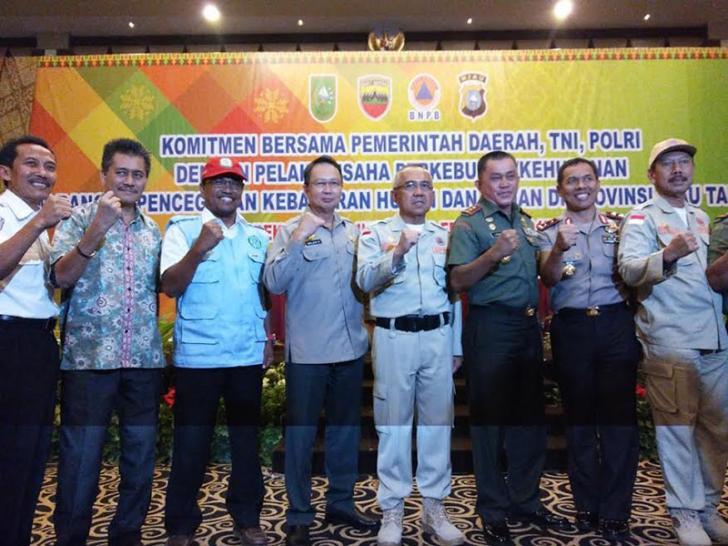 Pangdam Ingatkan Petugas Karhutla Riau Tetap Waspada
