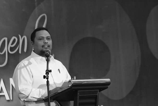 BIMA Lakukan Rapat Pembentukan Timses di Ponpes Darul Muttaqin Tembilahan