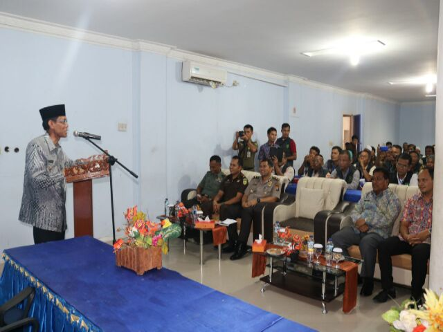 Satpol PP Riau Taja Sosialisasi Penegakan Hukum di Tengah Masyarakat Pelalawan