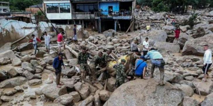 Longsor Kolombia, Sejumlah Bangunan Rusak, Ratusan Orang Meninggal Dunia