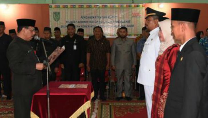 Said Syarifuddin Lantik Pejabat di Lingkungan Pemkab Inhil