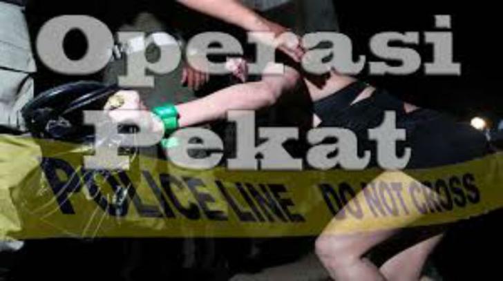 Tim Gabungan Razia Warung Remang di Jalintim Tanjung Raya