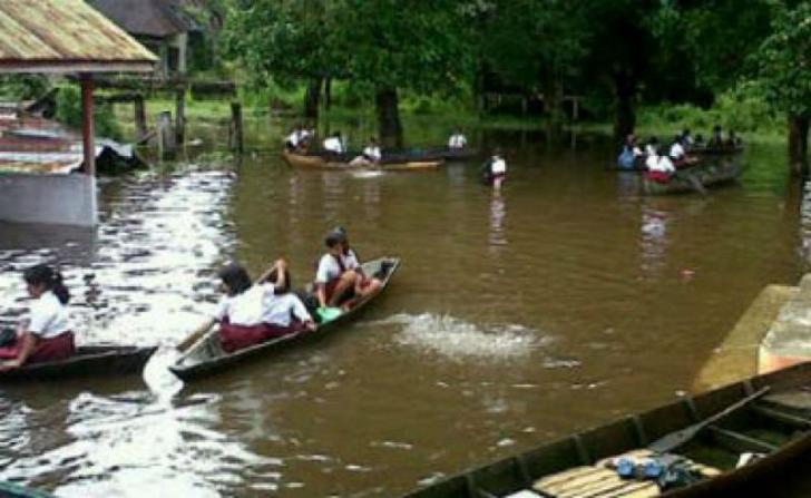 Tiga Kecamatan di Pelalawan Terendam Banjir, Sekolah Diliburkan