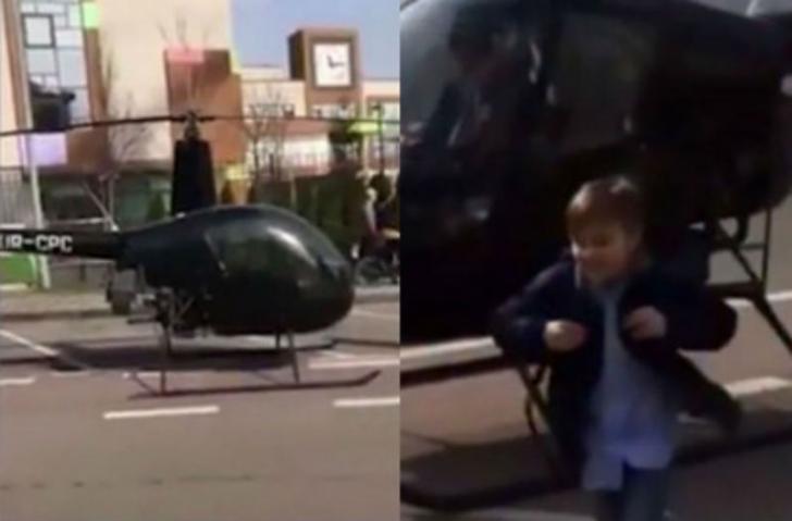 Anak Ini Diantar Pakai Helikopter ke Sekolah, Jadi Perbincangan di Medsos