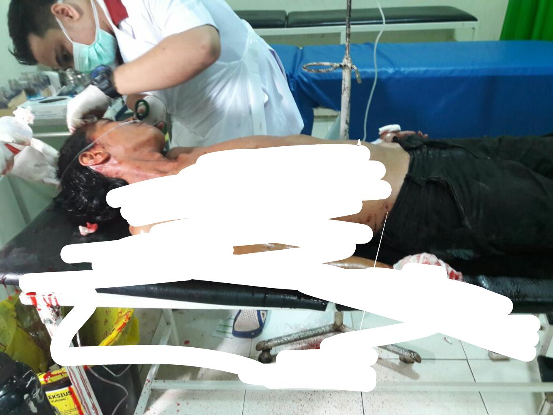 Berkelahi, Pelaku Melarikan Diri Korban Masuk RSUD PH Tembilahan