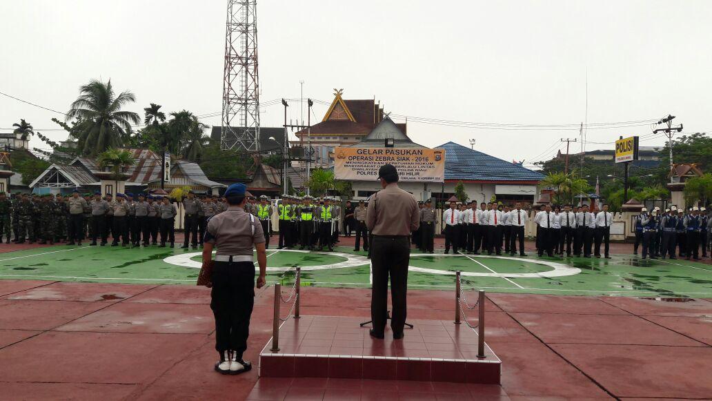 Hari Ini Perdana Dilaksanakan Operasi, Polres Inhil Laksanakan Apel Gelar Operasi Zebra Siak 2016