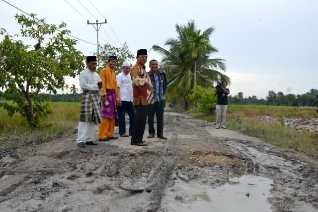 Pakai Transportasi Darat, Wardan Tinjau Langsung Kondisi Jalan di Inhil Selatan