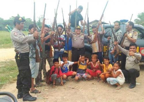 Polda Riau Amankan 47 Pucuk Senjata Api Rakitan Masyarakat