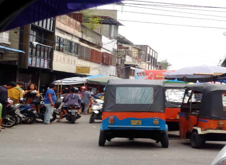 Wah, Ternyata Bajai Mangkalnya di Pasar Bawah Pekanbaru, Hebatnya Banyak Penumpang Para Tionghoa